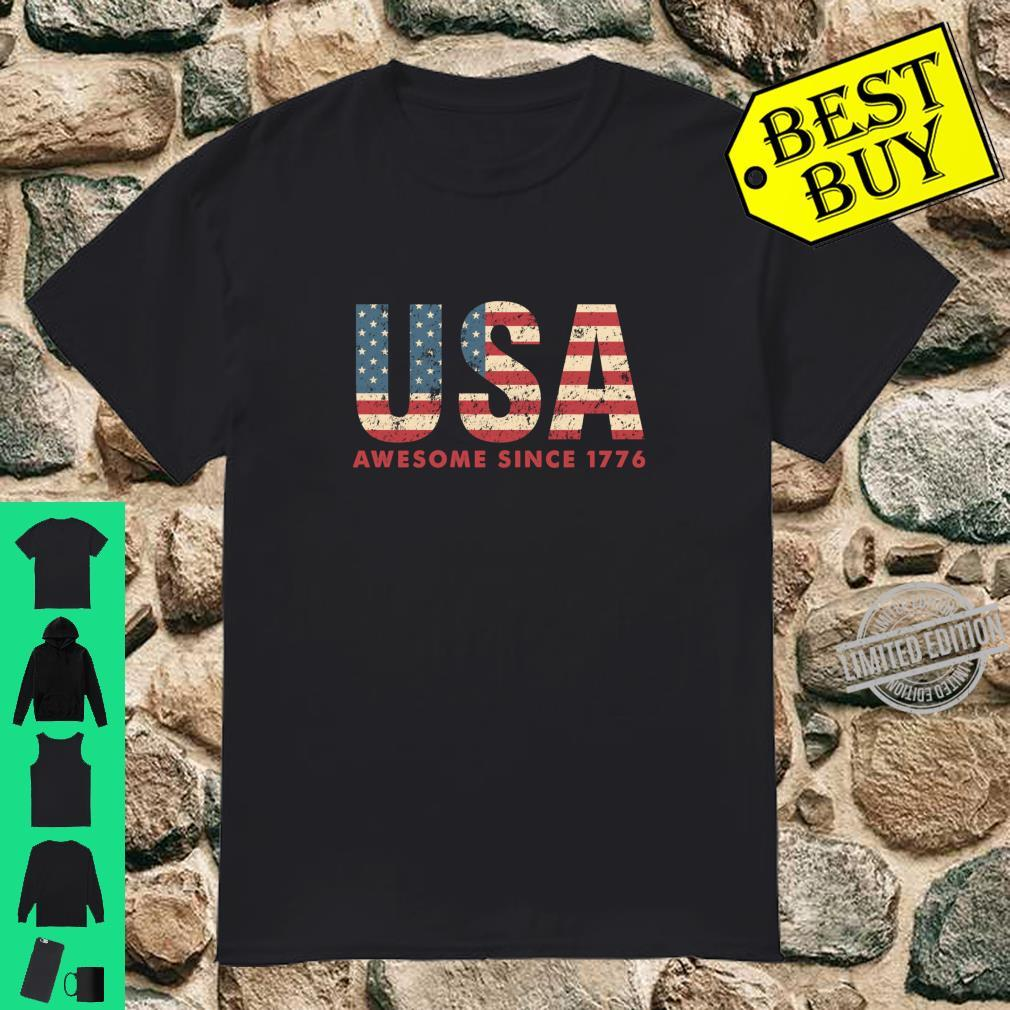 Awesome since 1776 Patriotic American flag's 4th july Shirt