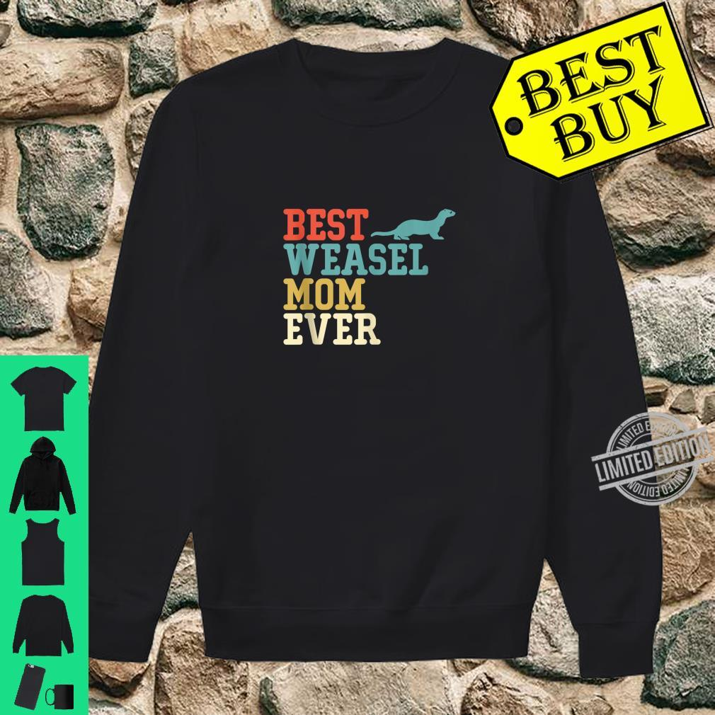 Best WEASEL Mom Ever Vintage Retro Shirt sweater