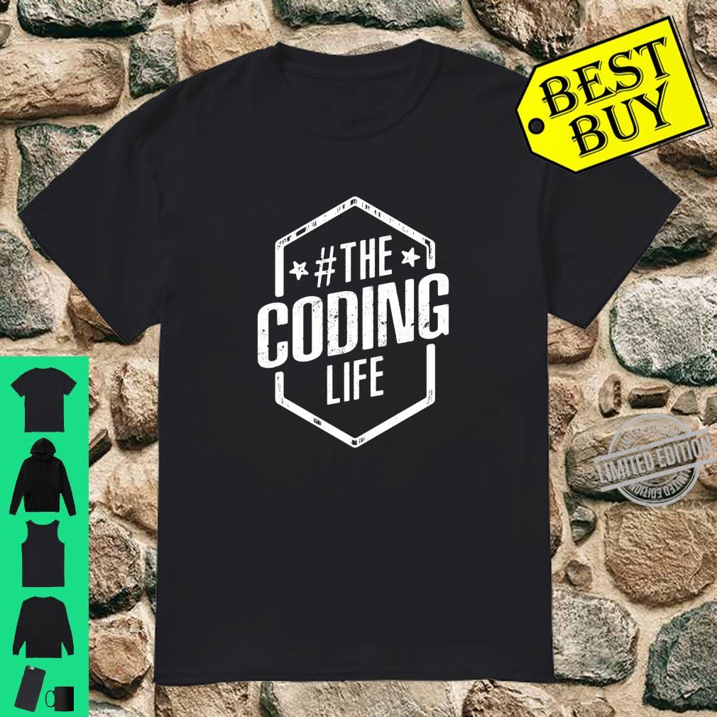 Cool Distressed #THECodingLIFE Hashtag The Coding Life Shirt