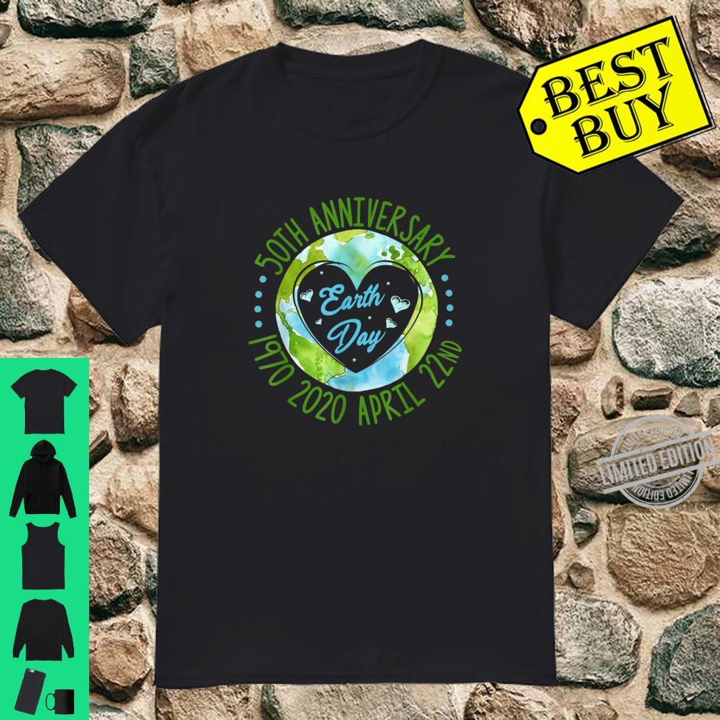 Earth Day 50th Anniversary April 22nd Costume Heart Shirt