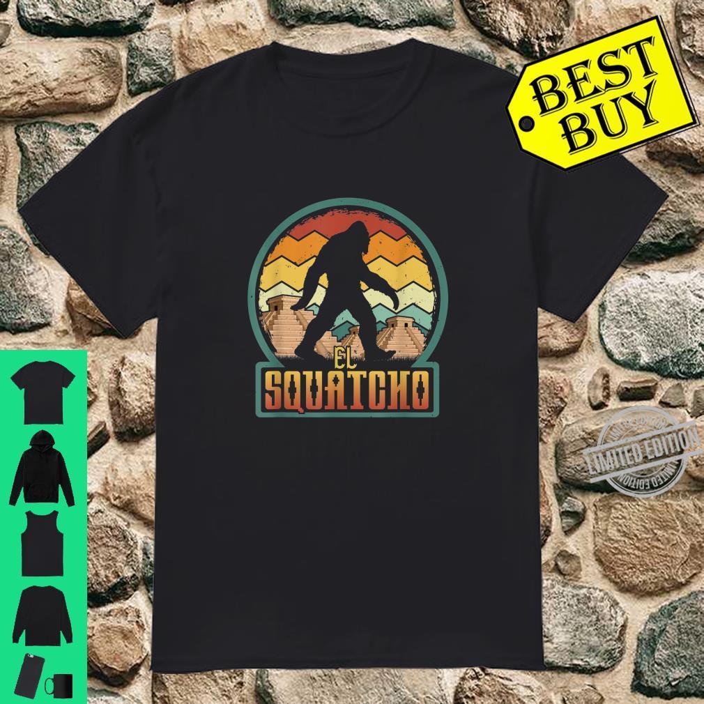 El Squatcho Lustiger mexikanischer Bigfoot, MayaPyramide Shirt