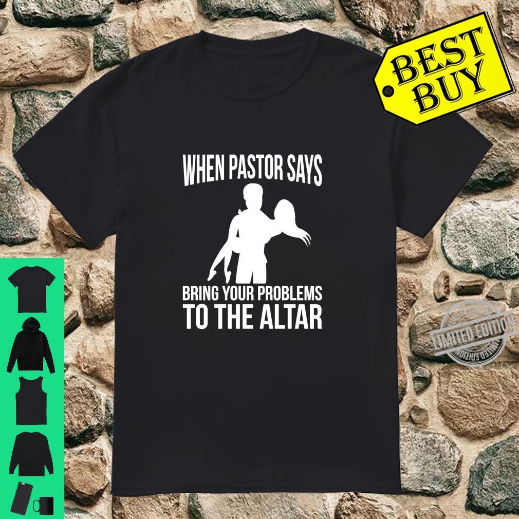 Funny Preacher Pastor Wife Church Christian Prayer Shirt