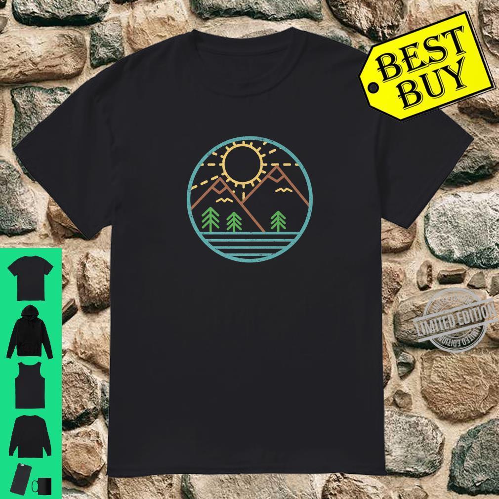 Geometric Mountain Nature Hiker Camper Outdoor Trek Sun Shirt