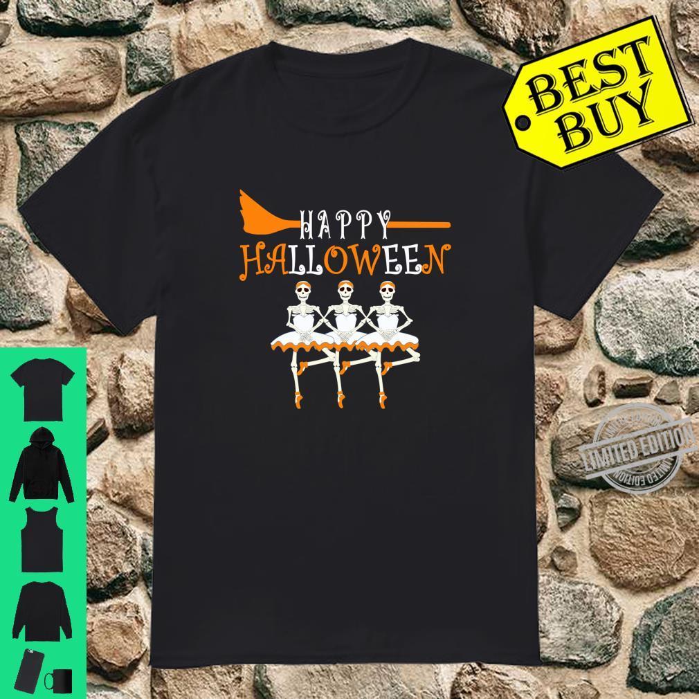 Happy Halloween Skeleton Ballerina Ballet Dancer Shirt