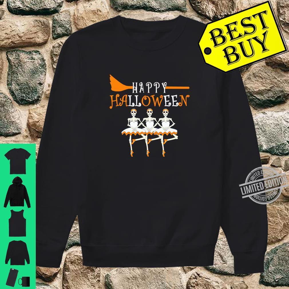 Happy Halloween Skeleton Ballerina Ballet Dancer Shirt sweater