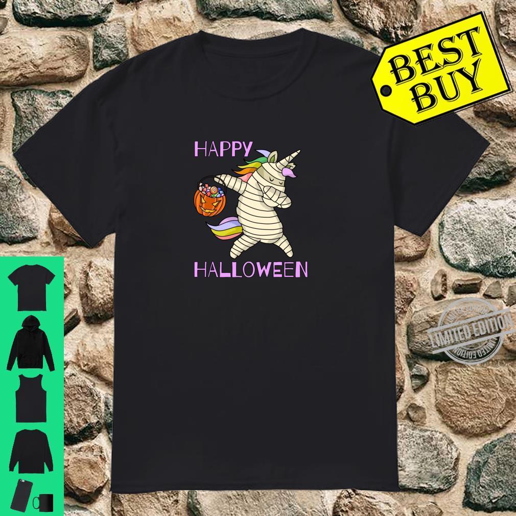 Happy Halloween Tupfende EinhornMumie Kostüm Shirt