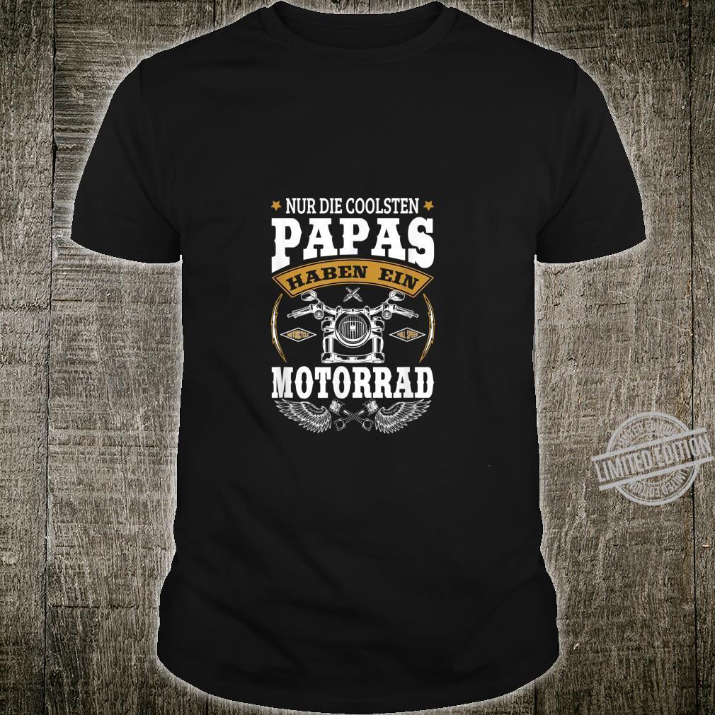 Herren Biker Papa Motorrad Geschenk Für Coole Motorradfahrer Shirt