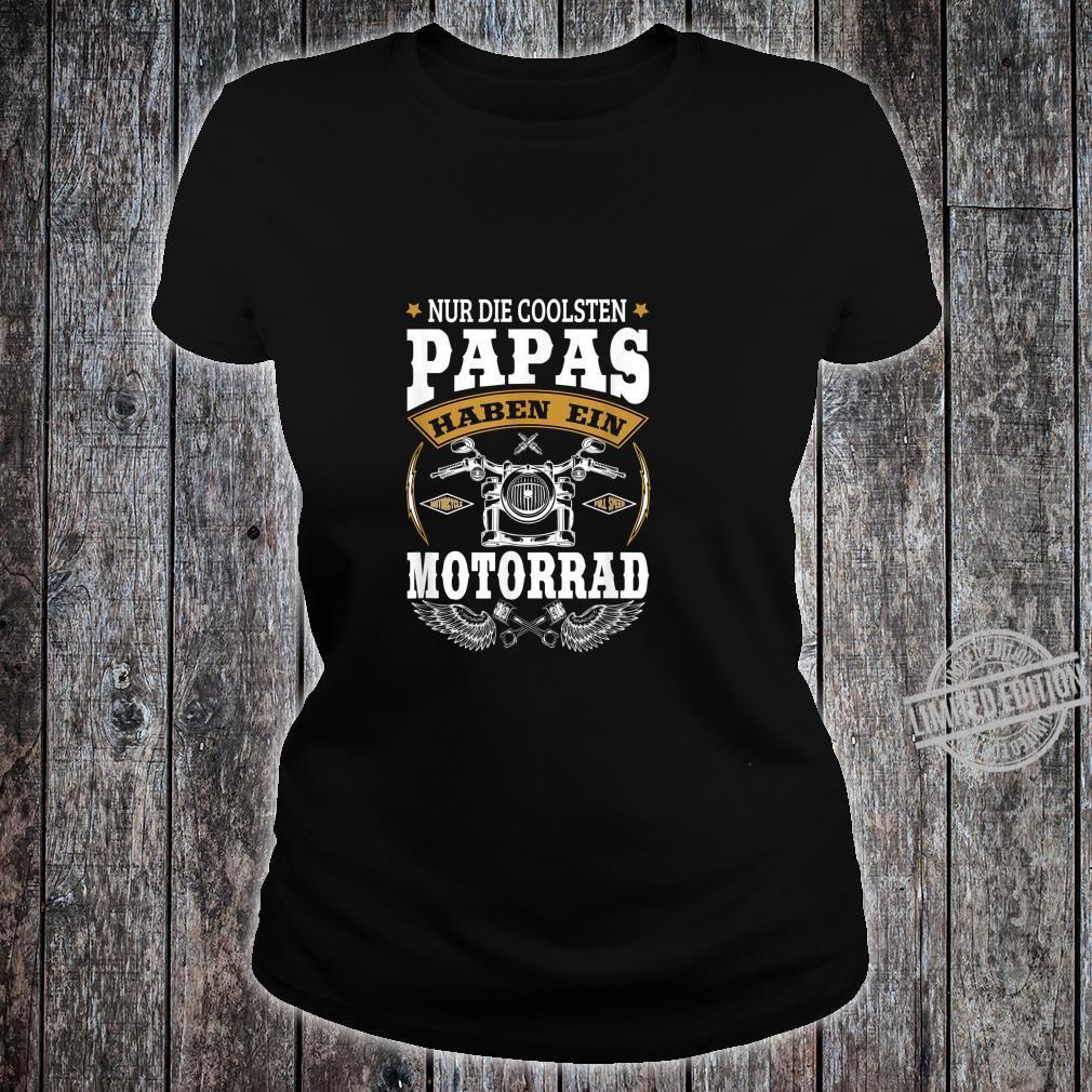 Herren Biker Papa Motorrad Geschenk Für Coole Motorradfahrer Shirt ladies tee