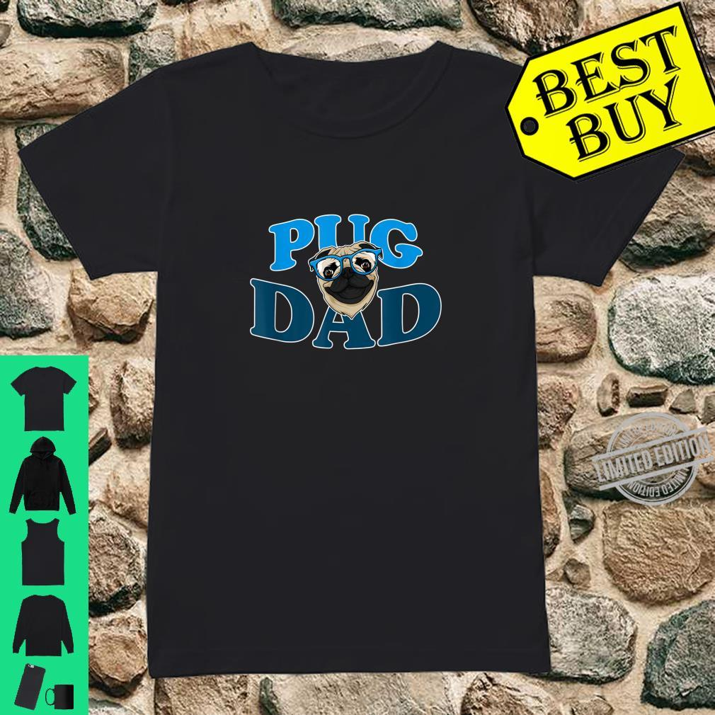 Hunde Vater Mops Hund Mops Papa Lustiges Pug Dad Geschenk Shirt ladies tee