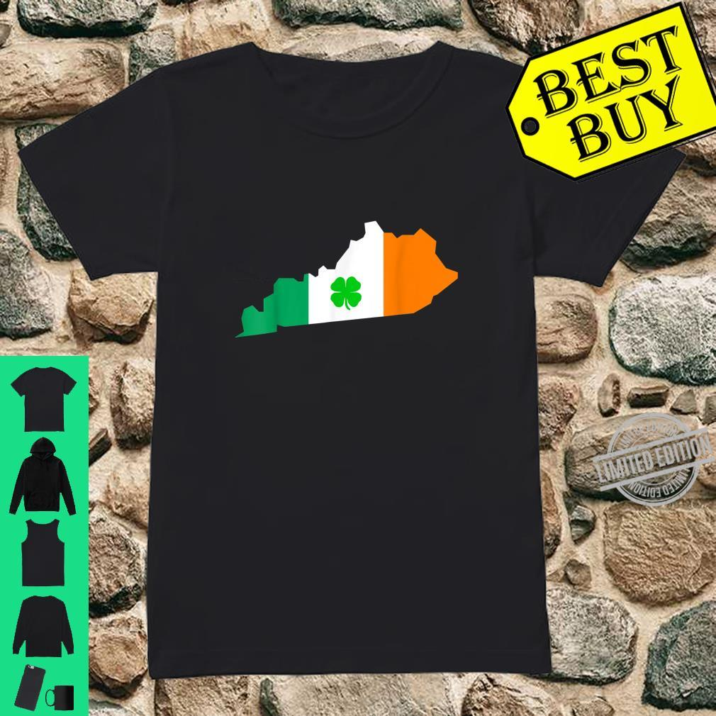 Irish Flag Kentucky State St Patrick's Day Shirt ladies tee