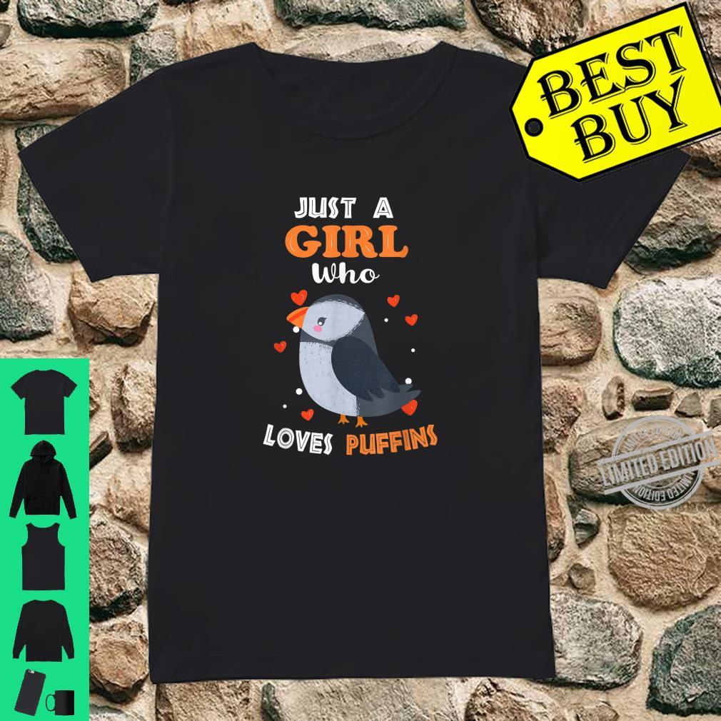 Just a Girl Who Loves Puffins Puffin Girl Shirt ladies tee