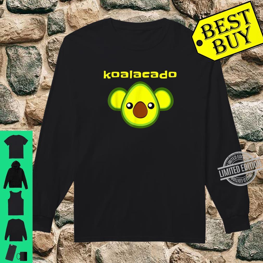 Koalacado Avocado Koala Mashup Vegan Keto Design Shirt long sleeved