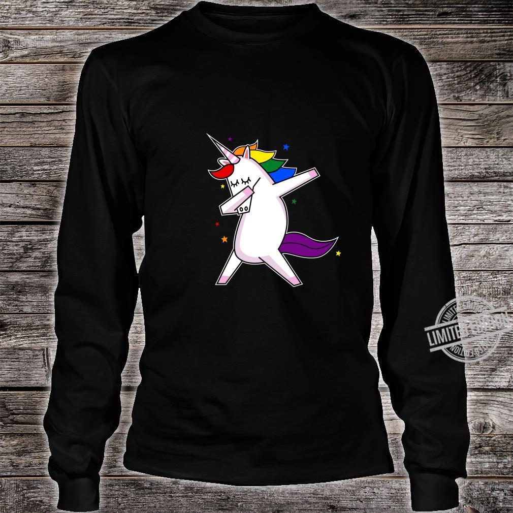 LGBT Gay Lesbian Pride Monat Einhorn Shirt long sleeved
