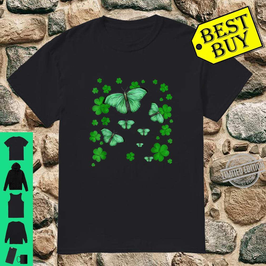 Lucky Butterfly Shamrock St Patricks Day Shirt Shirt