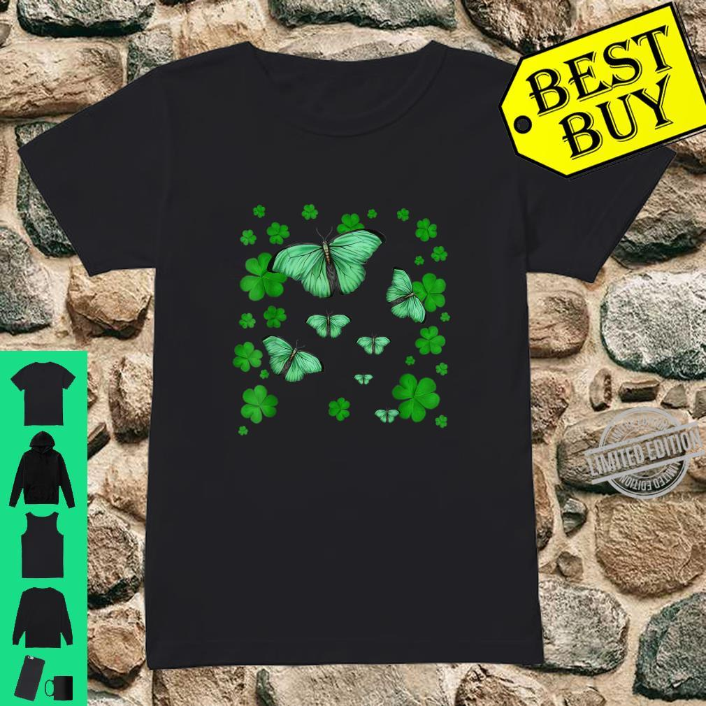 Lucky Butterfly Shamrock St Patricks Day Shirt Shirt ladies tee
