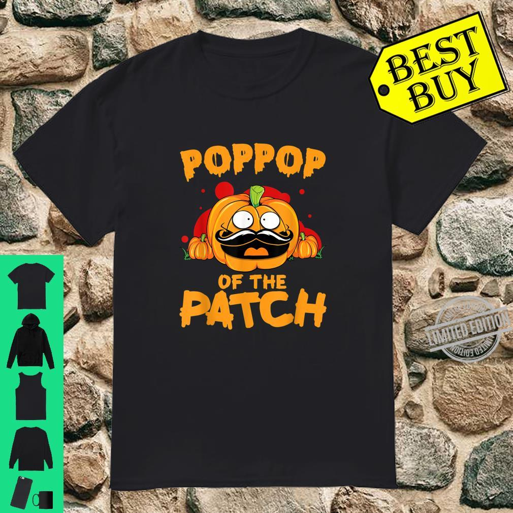 Mens Poppo of the Patch Pumpkin for Halloween Shirt