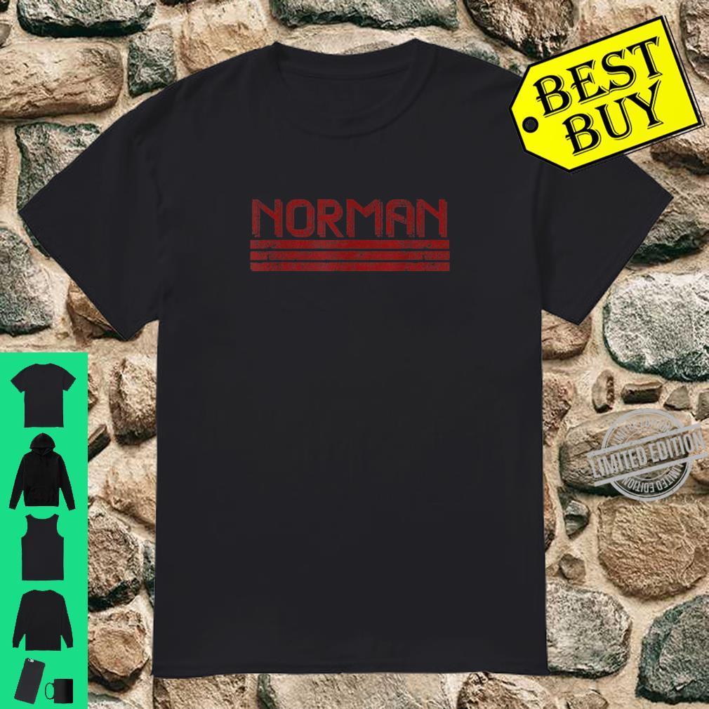 Norman Oklahoma Retro Vintage Weathered Stripe Throwback Shirt