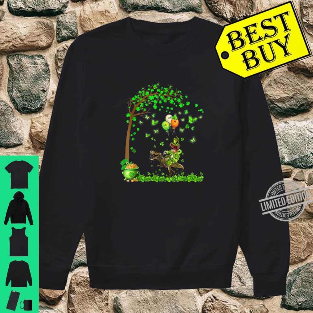 Papillon Riding Dinosaur Tree Patricks Day Shirt sweater