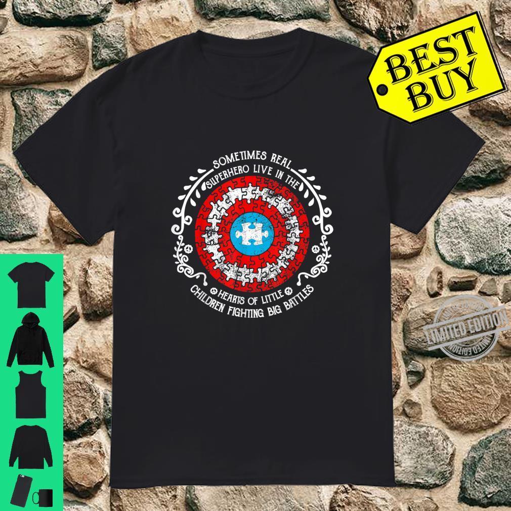 Sometime Real Superhero Autism Awareness Puzzle Shirt