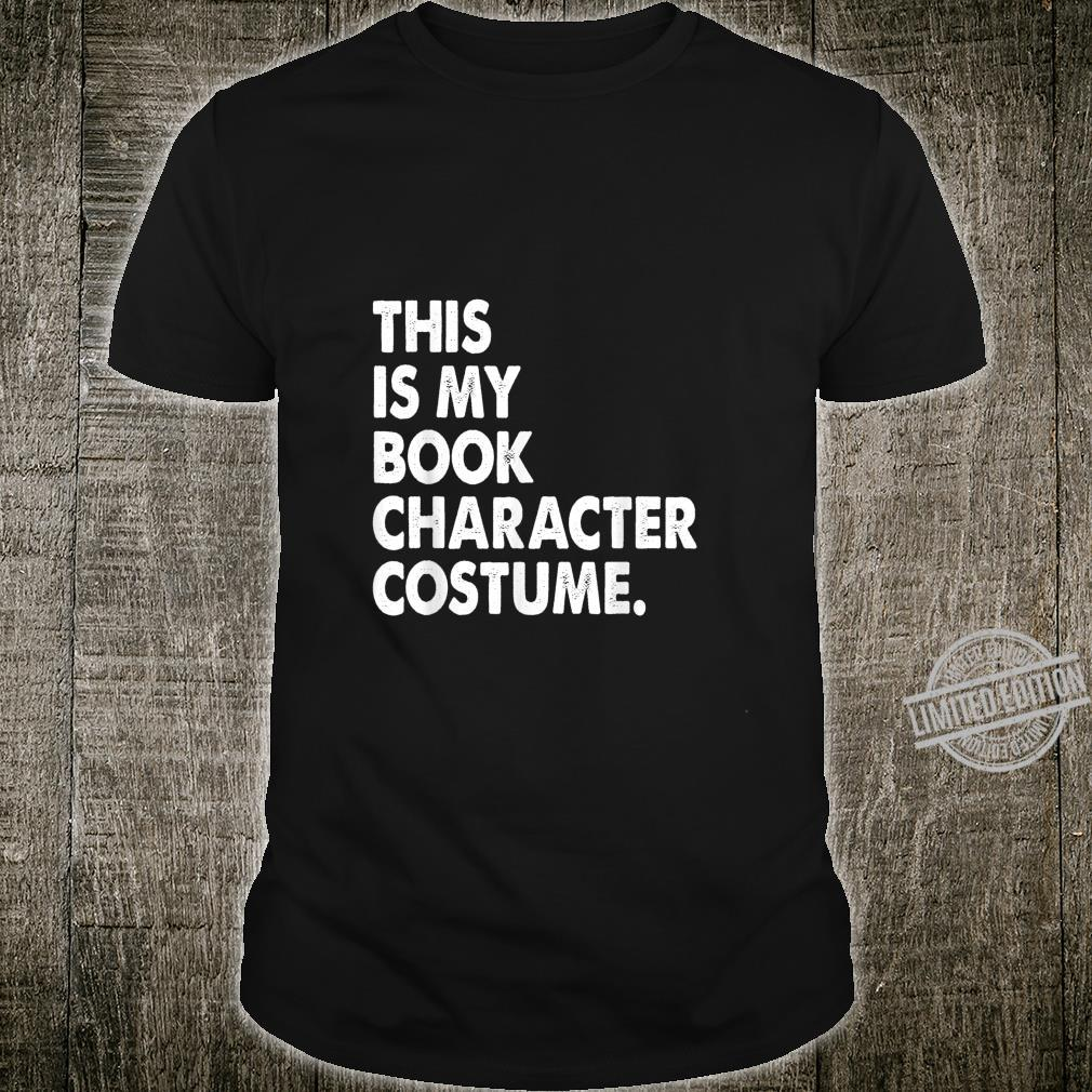 This Is My Book Character Costume Shirt